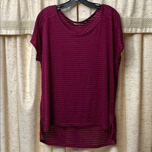 Xl burgundy shear shirt